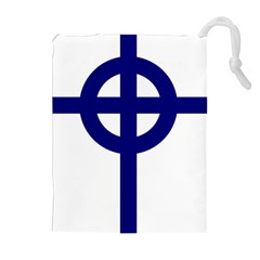 Celtic Cross  Drawstring Pouches (Extra Large)