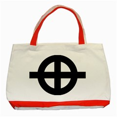 Celtic Cross  Classic Tote Bag (red)