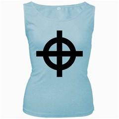 Celtic Cross Women s Baby Blue Tank Top