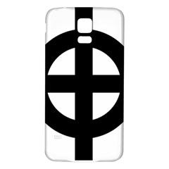Celtic Cross Samsung Galaxy S5 Back Case (White)