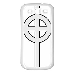 Celtic Cross  Samsung Galaxy S3 Back Case (White)
