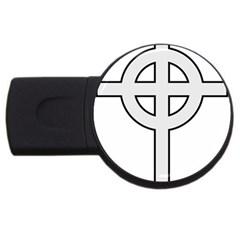 Celtic Cross  USB Flash Drive Round (4 GB)