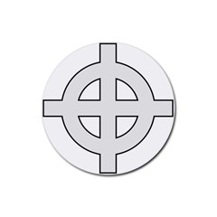 Celtic Cross  Rubber Round Coaster (4 pack)
