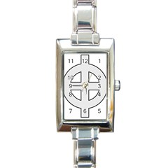 Celtic Cross  Rectangle Italian Charm Watch