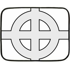 Celtic Cross  Double Sided Fleece Blanket (Mini)