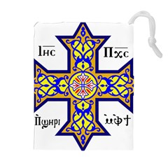 Coptic Cross Drawstring Pouches (Extra Large)