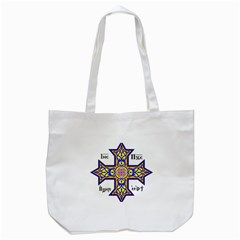 Coptic Cross Tote Bag (White)