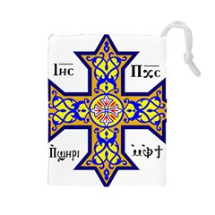 Coptic Cross Drawstring Pouches (Large)