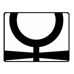 Coptic Ankh  Double Sided Fleece Blanket (Small)
