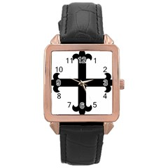 Cross Fleury  Rose Gold Leather Watch