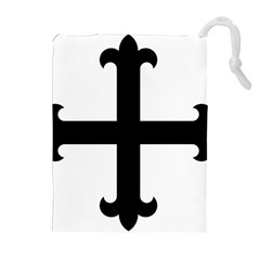 Cross Fleury Drawstring Pouches (Extra Large)