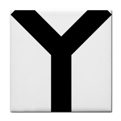 Forked Cross Tile Coasters