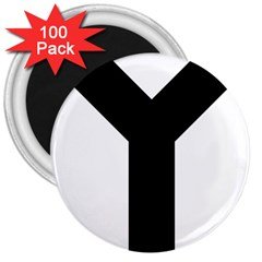 Forked Cross 3  Magnets (100 pack)