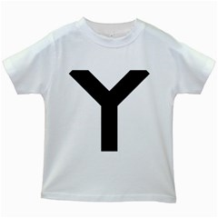 Forked Cross Kids White T-Shirts