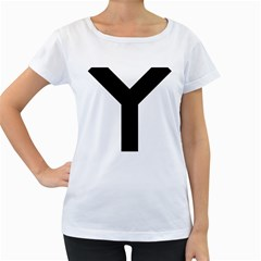 Forked Cross Women s Loose-Fit T-Shirt (White)