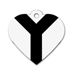 Forked Cross Dog Tag Heart (Two Sides)