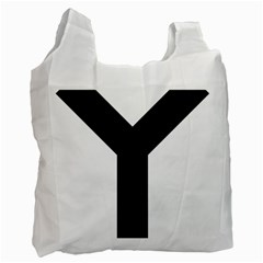Forked Cross Recycle Bag (Two Side)