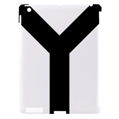 Forked Cross Apple iPad 3/4 Hardshell Case (Compatible with Smart Cover)