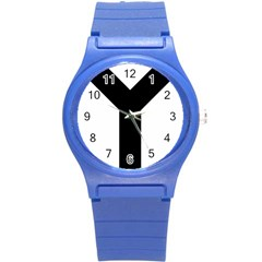 Forked Cross Round Plastic Sport Watch (S)