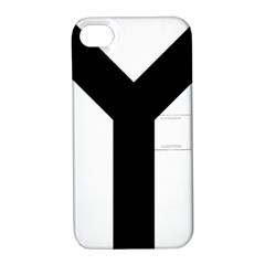 Forked Cross Apple iPhone 4/4S Hardshell Case with Stand