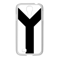 Forked Cross Samsung GALAXY S4 I9500/ I9505 Case (White)