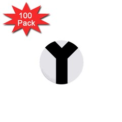 Forked Cross 1  Mini Buttons (100 pack)