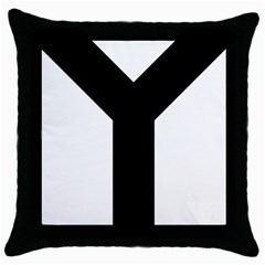 Forked Cross Throw Pillow Case (Black)