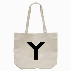 Forked Cross Tote Bag (Cream)