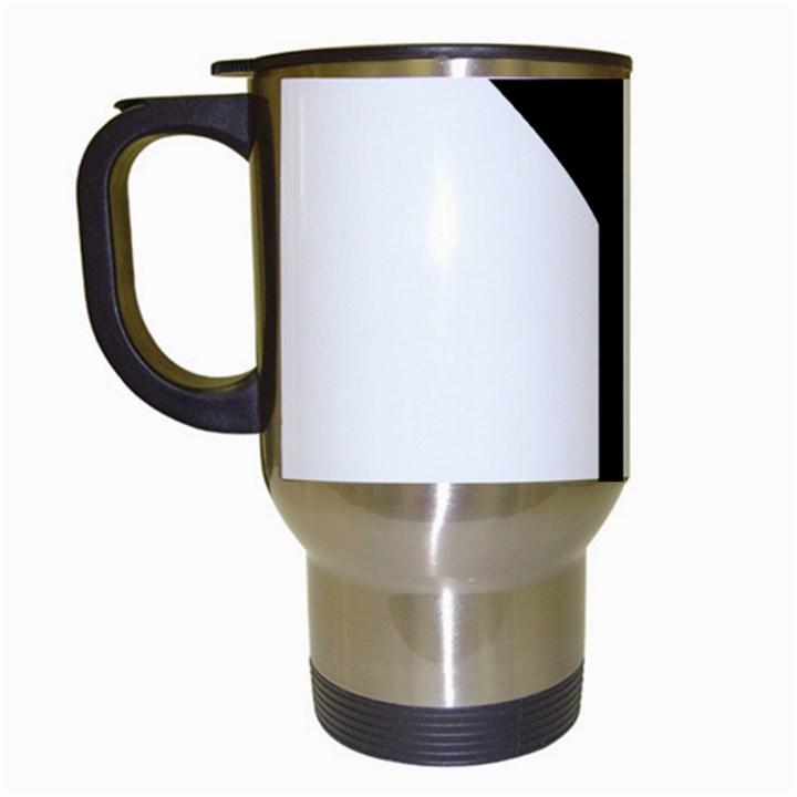 Forked Cross Travel Mugs (White)