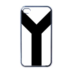 Forked Cross Apple iPhone 4 Case (Black)