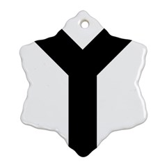 Forked Cross Ornament (Snowflake)