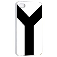 Forked Cross Apple iPhone 4/4s Seamless Case (White)