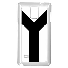 Forked Cross Samsung Galaxy Note 4 Case (White)