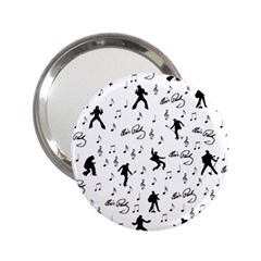 Elvis Presley pattern 2.25  Handbag Mirrors
