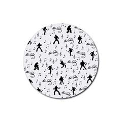 Elvis Presley pattern Rubber Coaster (Round)