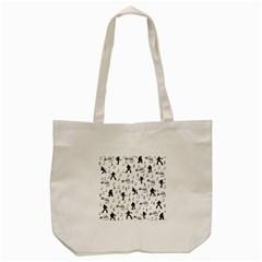 Elvis Presley pattern Tote Bag (Cream)