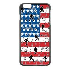 Elvis Presley pattern Apple iPhone 6 Plus/6S Plus Black Enamel Case