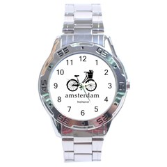 Amsterdam Stainless Steel Analogue Watch