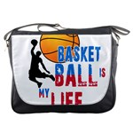 Basketball is my life Messenger Bags Front