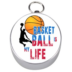 Basketball Is My Life Silver Compasses