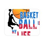 Basketball is my life Double Sided Flano Blanket (Mini)  35 x27 Blanket Back