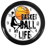Basketball is my life Wall Clocks (Black) Front