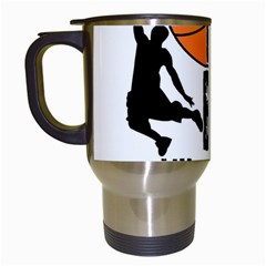Basketball is my life Travel Mugs (White)