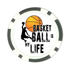 Basketball is my life Poker Chip Card Guard (10 pack)