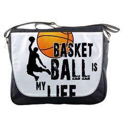 Basketball is my life Messenger Bags