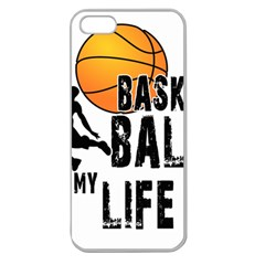 Basketball is my life Apple Seamless iPhone 5 Case (Clear)