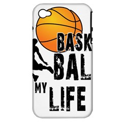 Basketball is my life Apple iPhone 4/4S Hardshell Case (PC+Silicone)
