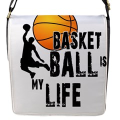 Basketball is my life Flap Messenger Bag (S)