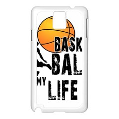 Basketball is my life Samsung Galaxy Note 3 N9005 Case (White)