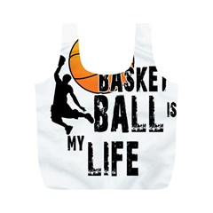 Basketball is my life Full Print Recycle Bags (M)